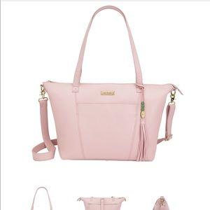 Handbags - Lori Blush & Gold Lily Jade Bag